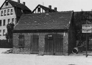 Das alte Feuerwerhr-Gerätehaus in Gorma 1936