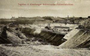 Der Tagebau Fichtenhainichen um 1910