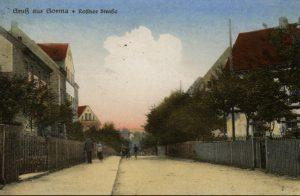 Die Rositzer Straße, heutige Schulstraße in Gorma