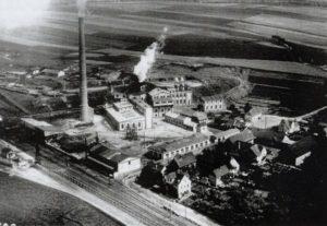 Luftaufnahme der Altenburger Kohlenwerke