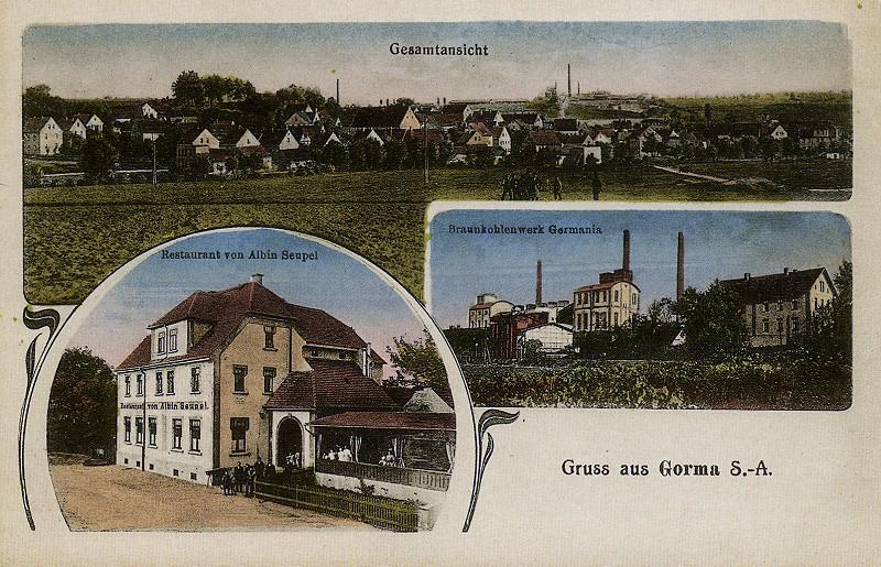 Ansichtskarte von Gorma
