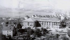 """Bau des Kulturhauses """"Völkerfreundschaft"""" 1952"""
