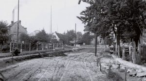 Einbau des Weidenweges 1940