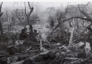 Schelditz nach dem Bombenangriff 1945