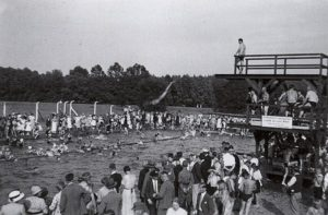 Das Freibad in Schelditz 1934