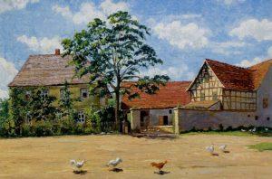 Gemälde des Vierseithofes Noritzsch in Schelditz