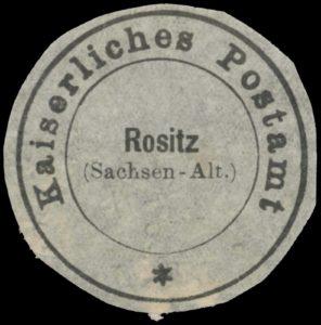Siegel vom Kaiserlichen Postamt Rositz