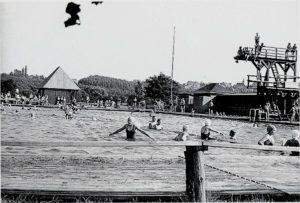 Das Freibad Rositz um 1939