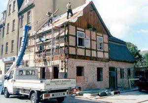 Die Rositzer Heimatstube während ihrer Sanierung
