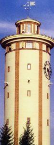 Der Rositzer Wasserturm nach der Sanierung