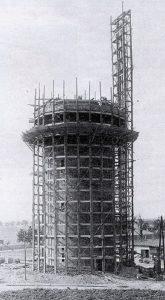 Der Rositzer Wasserturm im Bau
