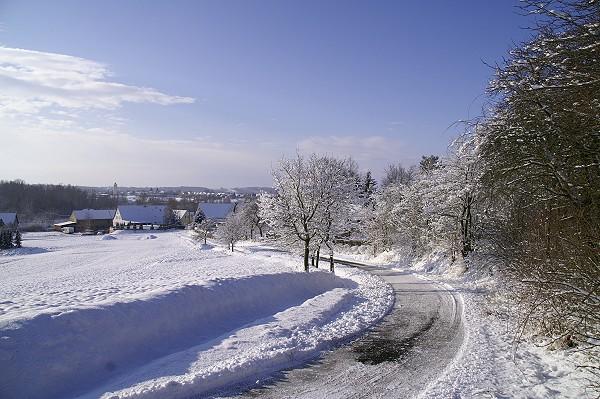 Blick vom Kiefernberg im Winter