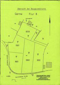 Lageplan Baugrundstücke am Gormaer Teich in Rositz