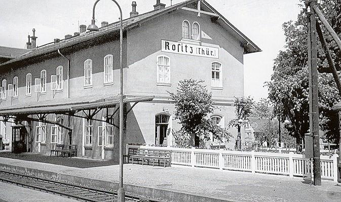 Bahnhof in Rositz