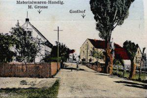 Molbitz, die Alte Luckaer Straße auf einer Postkarte