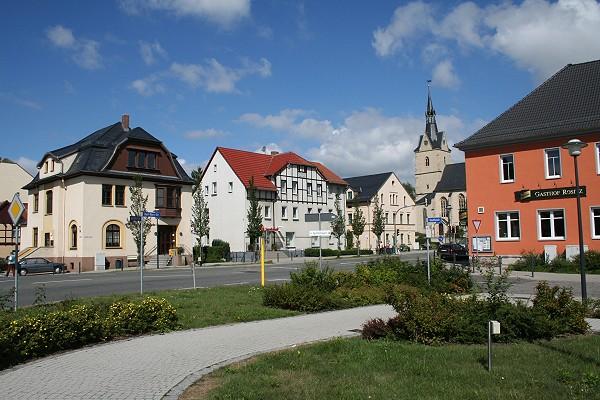 Das Rositzer Ortszentrum
